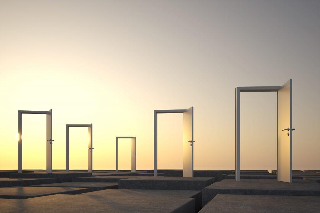sinnbildliches Foto mit offenen Türen fürs Business Coaching