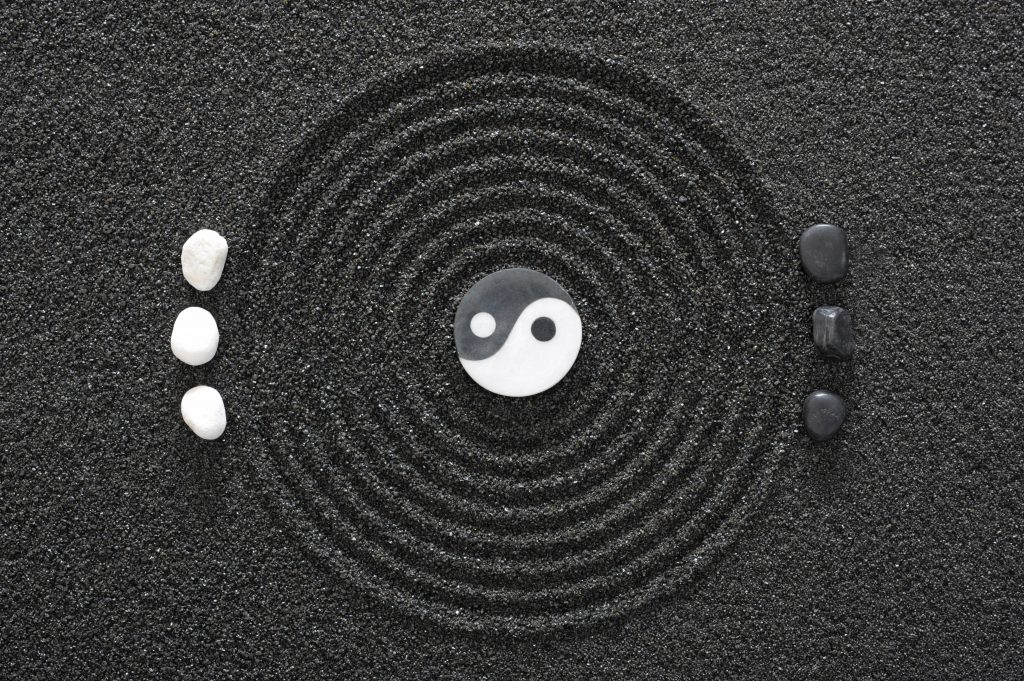 sinnbildliches Foto für Mediation von einem japanischen Zen Garten