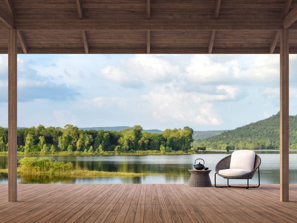 sinnbildliches Foto für psychologische Beratung einer Terrasse mit tollem Ausblick